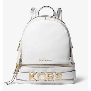NWT Michael Kors Rhea Medium Embellished Backpack